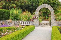 Garden archway Stock Photos