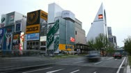 Stock Video Footage of Time Lapse Cars Passing Vehicles Motion Traffic Jam Commuters Busy Avenue Osaka