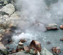 hot spring detail - stock photo