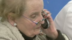 Secretary of State Madeleine Albright campaigns for Obama Stock Footage