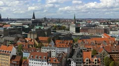 Copenhagen Cityscape pan- the tourist route.mp4 - stock footage