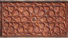 ottoman pattern on copper - stock photo