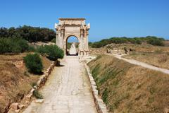 Stock Photo of arch of septimius severus