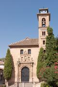iglesia de san gil y santa ana in granada - stock photo