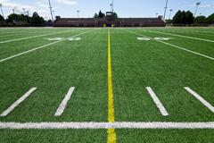 Football field Stock Photos