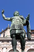 Statue of emperor Constantine - stock photo