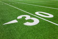 Stock Photo of thirty yard line - football