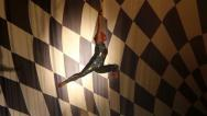 Stock Video Footage of Circus Artist in Action- With rope