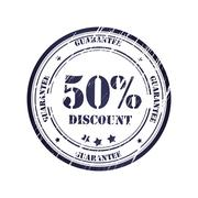 Stock Illustration of discount 50% grunge stamp