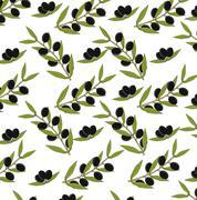 Olive seamless background Stock Illustration