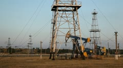 HD Fossil Fuel Energy, Oil Pump, Pumpjack, Old Pumping Unit, Jack, time lapse - stock footage