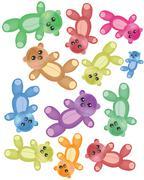 Teddy bears Stock Illustration