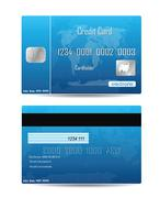 Credit card concept isolated on white Stock Illustration