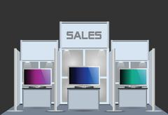 Stock Illustration of exhibition stand
