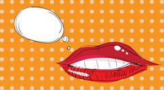 Stock Illustration of lips pop art