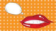 Lips pop art Stock Illustration
