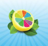 Stock Illustration of colorful lemon background
