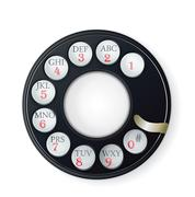 rotary phone dial isolated on white - stock illustration