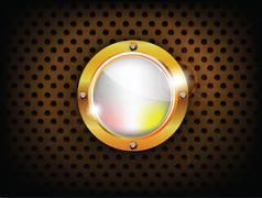 Stock Illustration of shiny button
