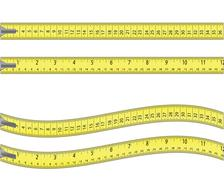 tape measure  isolated on white - stock illustration