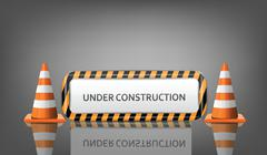 under construction - stock illustration