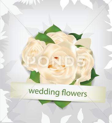 Stock Illustration of wedding flowers background