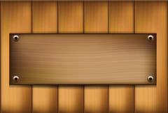 Wood template Stock Illustration