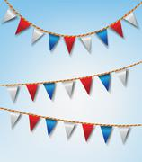 Bunting flags collection Stock Illustration