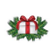 Gift box christmas decoration Stock Illustration