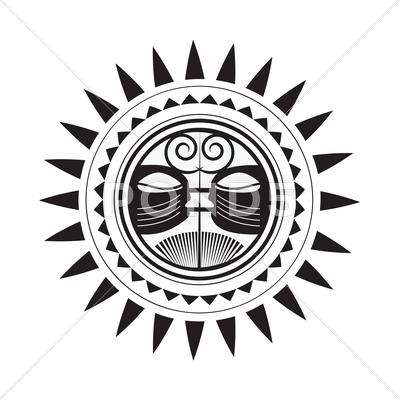 Stock Illustration of beautiful polynesian style tattoo