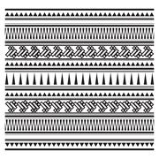 Illustration of aztec pattern Stock Illustration