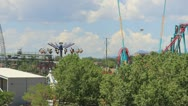 Stock Video Footage of theme park wide shot - Denver