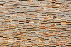 modern tan brick background - stock photo