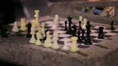 Chess in the park time lapse Stock Footage