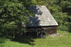 water mill in romania - stock photo