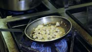 Roast chicken With vegetables  in the pan Stock Footage