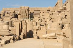 precinct of amun-re - stock photo
