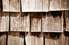 Wood shingle background Stock Photos