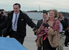 Stock Photo of Ann and Mitt Romney
