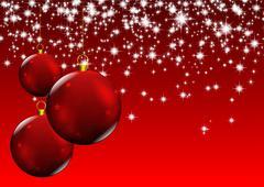 Christmas red balls Stock Illustration