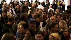 Large anonymous city crowd 2 Stock Footage