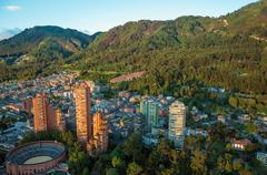 Bogota and the Andes Mountains - stock photo