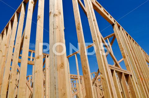 Stock photo of new home under construction