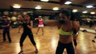 Stock Video Footage of Aerobics class- Kick Boxing