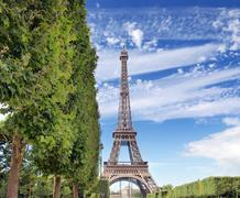 The eiffel tower. Stock Photos