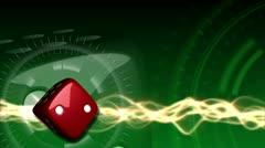 Casino Dice Background - Casino 21 (HD) - stock footage
