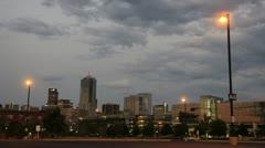 Denver skyline yöllä Arkistovideo