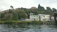 Palafitos in Chiloe, Chile Stock Footage