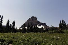 Logan pass - stock photo