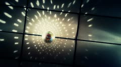 Disco Ball on Ceiling at Wedding Background Stock Footage
